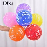 Multicolor Balloon 12inch Latex Balloon Happy Birthday Party Balloon Decor 10Pcs