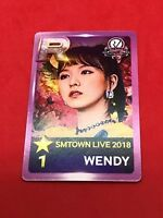 Red Velvet WENDY Limited SMTOWN LIVE 2018 IN OSAKA Official Photocard Venue