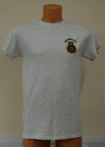 CLEARANCE: HMS Brilliant embroidered t-shirt - Ash Grey Small