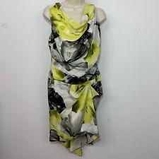 robert rodriguez 6 Cocktail Dress Floral Cowl Neck Handkerchief Hem Dress $ 650