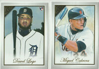 2019 TOPPS GALLERY Dawel Lugo RC & Miguel Cabrera Detroit Tigers 2 CARD LOT