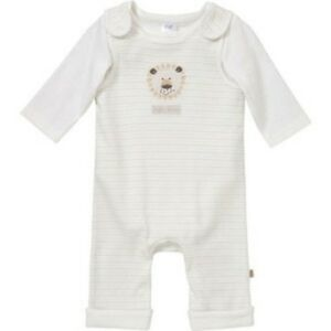 BNWT, x2 Pce Set, Baby, Dungarees, Cream, Size 00, 3-6 Months