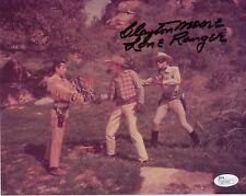Clayton Moore Hand Signed 8x10 Photo Rare Best Lone Ranger Pose Jsa