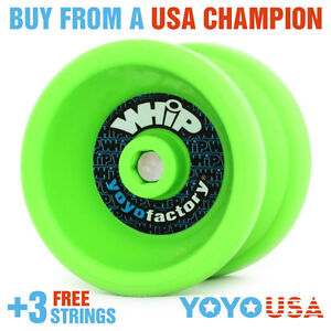 YoYoFactory WHiP Beginner Yo-Yo - Green + FREE STRINGS