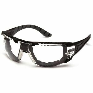 Pyramax Endeavor Plus Safety Glasses with Clear Anti-Fog Lens and Foam Padding