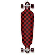 Yocaher Drop Through Longboard Complete - Checker Red