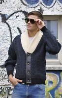 SÖLL Herren Strickjacke 90s TRUE VINTAGE Jacke Pullover 90er cardigan lammfell