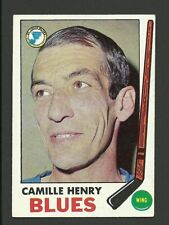 Camille Henry St. Louis Blues 1969-70 Topps Hockey Card #17 EX/MT