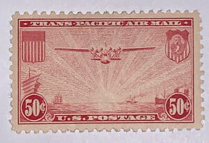"""Travelstamps: US Stamps Scott #C22 """"China Clipper over Pacific"""" MNH OG"""