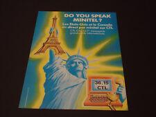36.15 CTL  Années 1985's - 1990's  Advertising Vintage AD Pub Paper 1980 - 1990
