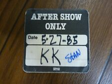 Judas Priest After Show Only 1985 Tour Backstage Concert Pass Kk Downing Stan