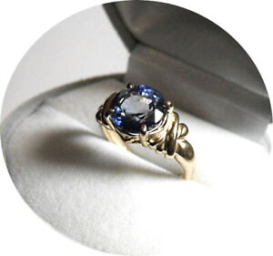 SAPPHIRE Ring - Blue - Natural Earth Gem - 4.40CT - Vintage 14k Yellow Gold Mtg.