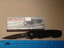 """Frost Cutlery H4 Folder 18-258b Folding Knife 4 1/2"""" Cloesd NIB"""