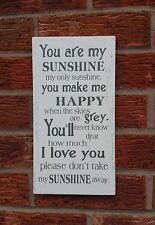 YOU ARE MY SUNSHINE Sign shabby vintage chic plaque large 12 x 6