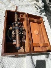 Bostrom Surveyor's Brass Level, Kueffel & Esser Compass Fingerjoint Box Plumbbob