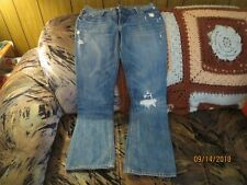 Hollister Size 5S DISTRESED DESTROYED Venice Boot Cut Jeans LOW RISE W-30 I-29