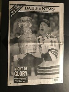 1994 Daily News NEW YORK RANGERS Stanley Cup CHAMPS Mark MESSIER Complete Paper