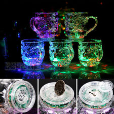 Rainbow Color Flashing Light Glow Mugs LED Dragon Inductive Glasses Beer Cup