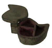 Caja de Tikka o Especias de Madera India Nepal Rústico Madera Tikka Box 9844-E5