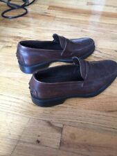 Tod's Brown Leather Loafers Men's Shoes Italy 7.5/US 8.5