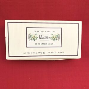 Crabtree & Evelyn Perfumed Soap Set Of 3 NEW