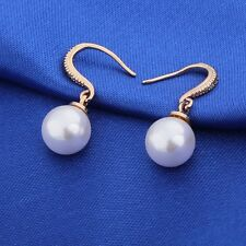 Distinguishing 18K Gold filled Sapphire hook pearl dangle earrings!