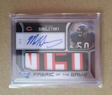 2018 Panini Certified Mike Singletary Fabric Of The Game Patch Auto /5