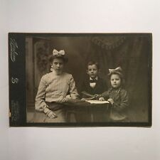Antique Photo Cabinet Card of Affluent Children from Los Angeles CA Sunbeam Art
