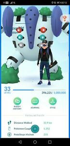 Pokémon Go account shiny regigigas Ho-oh Mewtwo giratina rayquaza groudon meltan