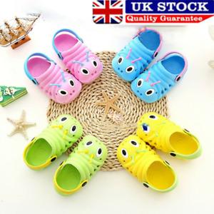 UK NEW Toddler Kids Baby Girls Boys Sandals Slippers Beach Slip On Summer Shoes