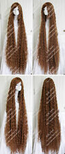 Light Brown Wavy Curly Long hair Halloween party wig 200cm 78'' Custom-made