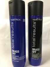 MATRlX Total Results Brass Off Color Obsessed Shampoo 10.1  & Conditioner10.1 oz