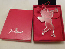 BACCARAT 1992 ANNUAL CRYSTAL CHRISTMAS ANGEL HORN ORNAMENT