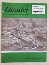 Vintage 1949 RED CROSS DISASTER MAGAZINE (VOL. 3 NO. 4) WEAR YOUR INSIGNIA RADIO