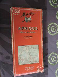 Ancienne Carte Michelin n° 153 - AFRIQUE NORD et OUEST  Edition 1967