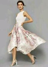 RRP £179 Coast orsay midi pink floral dress size 8