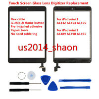 For IPad mini 1 2 Touch Screen digitizer Replacement With Home Button + IC Chip