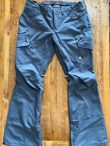Burton Gloria Pant Iron Gray Womens Size L Large Ski Snowboard Pants Insulated