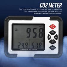 HT-2000 Digital CO2 Gasdetektor Meter Temperaturmonitor Feuchtemessgerät 9999ppm