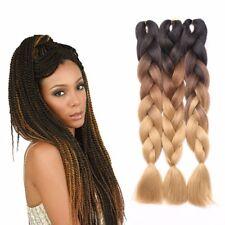 UK Ombre Dip Dye Kanekalon Jumbo Braid Hair Extensions High Quality Twist Braids