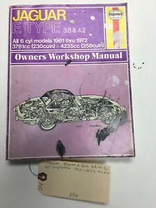 Haynes Jaguar E Type 3.8/4.2 all 6 Cylinder 1961-1972 Models Owners Workshop Man