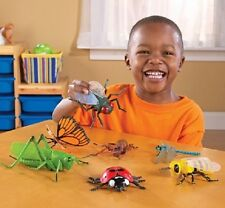 7 JUMBO INSECTS / BUGS / MINIBEASTS set - bee fly ant ladybird dragonfly etc