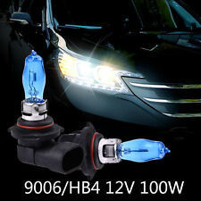 9006/HB4 DC 12V 6000K 100W Super White HOD Halogen Lamp Headlight Bulbs 2Pcs