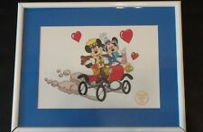 "Disney Mickey and Minnie ""Nifty Nineties"" Serigraph Sericel Framed Limited Ed"