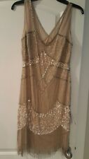 ADRIANNA PAPELL  Dress Gold size 8 retail $299.99