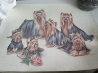 Marcia Van Woert Dog Yorkshire Terrier Yorkie Lithographic Print 1987