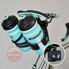 Bicycle Saddle Rail Bottle Cage Adapter / Two Cages Dual Rear Mount GoPro Double