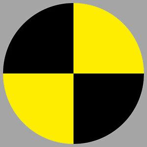 Aufkleber Sticker Fadenkreuz crashtest crash test dummy Ski Helm Zeichen Symbol