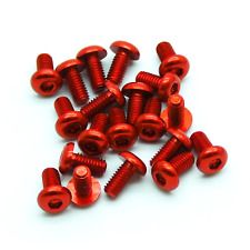 20pcs M3x6mm Aluminum Button Head Hex Screw (Anodized Red)