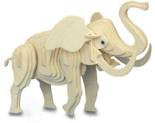 Little Elephant - QUAY Woodcraft Construction Kit Wooden 3D Model Kit M029 Age7+